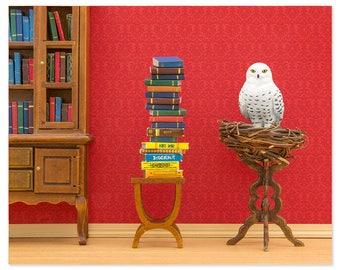 2 FOR 1 SALE - Harry Potter inspired Hedwig owl animal art print