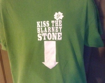 Vintage T Shirt Kiss The Blarney Stone tee Vintage Irish St Patty's Day
