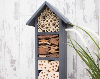 Bee Hotel, Mason Bee House, Insect House, Bug Box, Garden Gift, Father's Day Gift, Can be personalised.