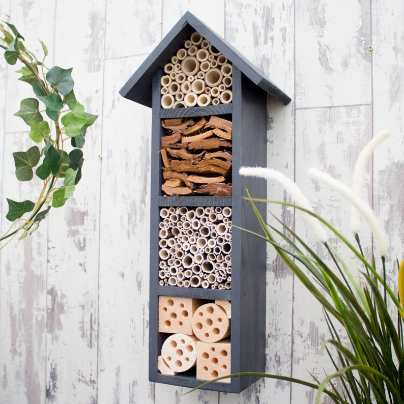 Bee Hotel Bee House Insect House Solitary Bee Hotel Garden image 0