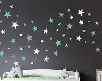 Wall Decals Stars In Variety Sizes and 3 Different Colors Nursery And Home Wall Decal Decor Stickers Star Decals 175 Total Stars in 4 Sizes