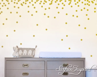 More Colours. Wall Decals Gold Polka ...