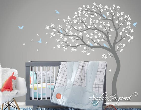 tree wall decal nursery large tree wall decal wall mural | etsy