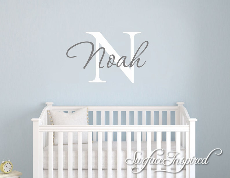 nursery wall decals. personalized names wall decal for boys | etsy