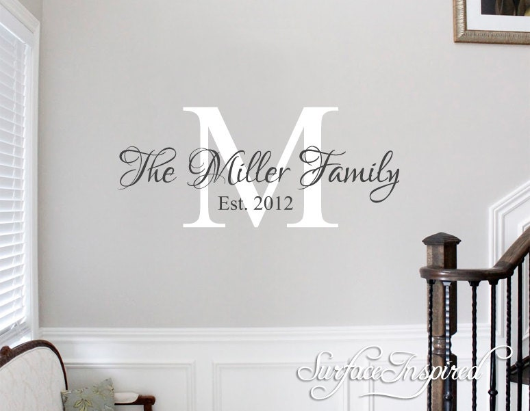 Wall Decals Quote Personalized Family Name Wall Decal Name ...