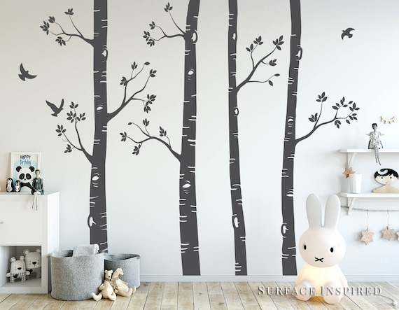 Nursery Wall Decals Birch Trees Wall Decal Large Tree Wall  aef878bc6