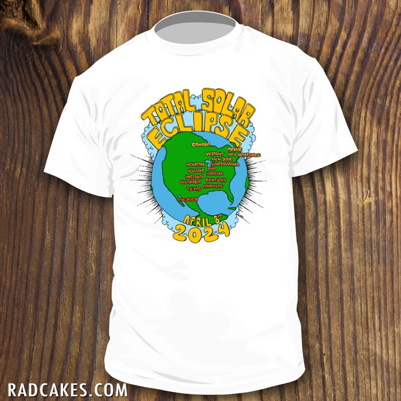 Official 2024 Total Solar Eclipse Shirt Souvenir With Usa Map Etsy