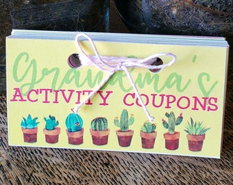 Editable Coupon Book for Grandma - Great Grandma Gift, Mom Gift, Mothers Day Gift   Activity Coupons for Grandma or Mom   Digital Download