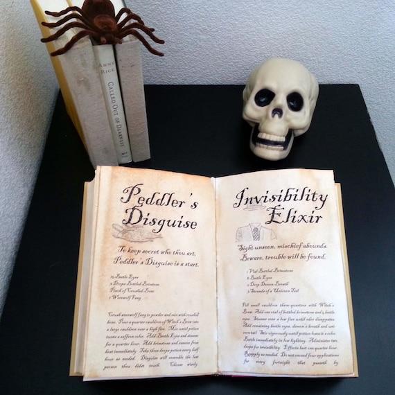 Printable Halloween Sorts Et Potions Livre Couverture
