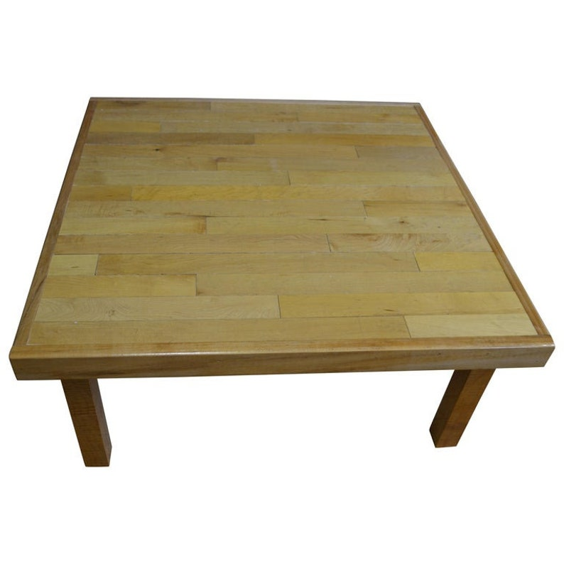 Coffee Table of Maple Flooring Reclaimed from Gym image 0