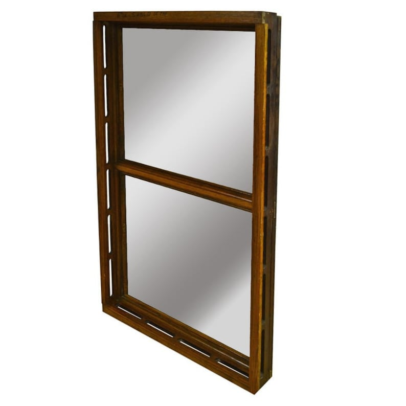 Floor Mirror Inserted into 1912 Oak Skylight Frame from image 0