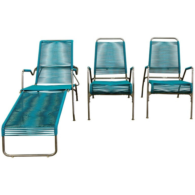 Patio Furniture by Surf Line 2 Lounge Chairs 1 Chaise in image 0