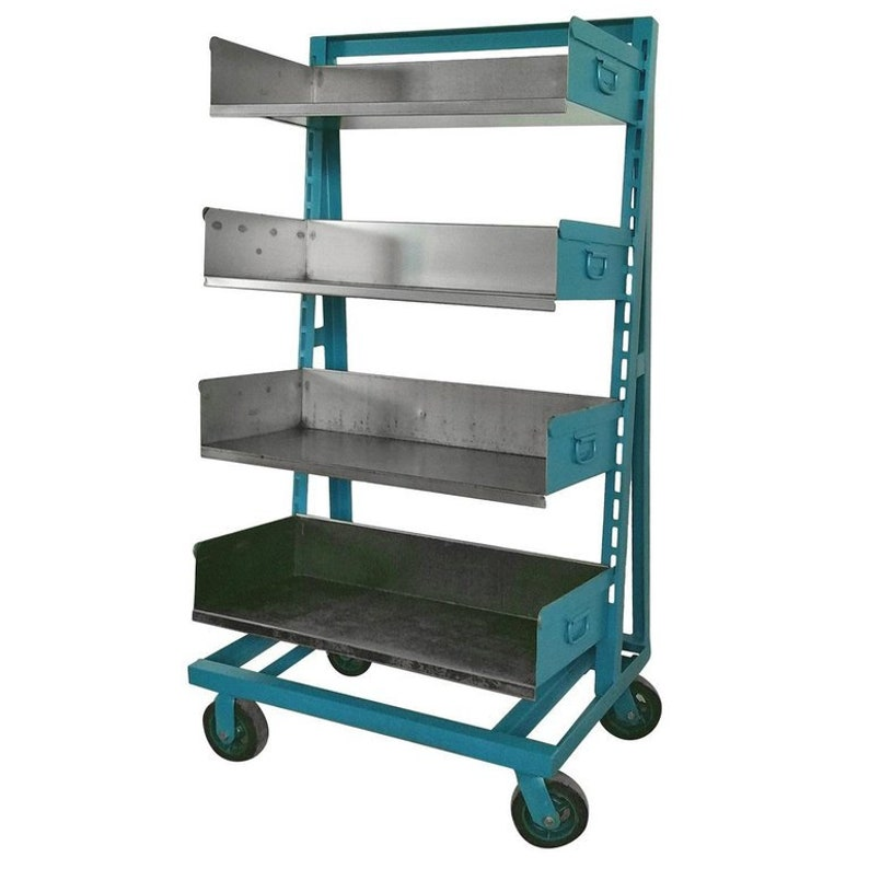 Industrial Steel Factory Storage A-Frame Rack Cart as Shelving image 0