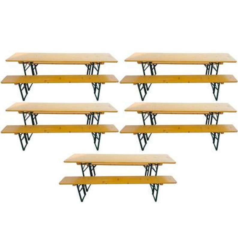 5 Sets of German Beer Garden tables and benches Free image 0