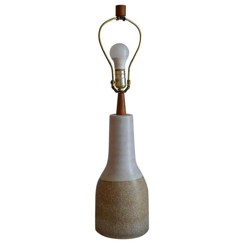 Free Shipping. Martz Ceramic Table Lamp Midcentury with image 0