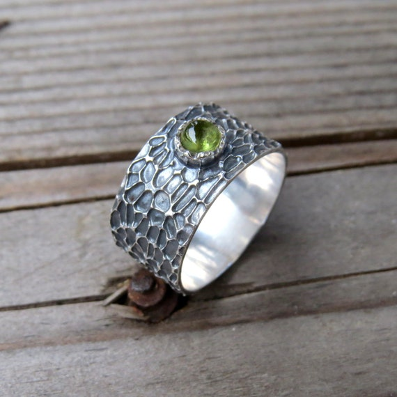 Plant Ring Fern Ring Witchy Jewelry Bohemian Rings Silver Rustic Woodland Ring