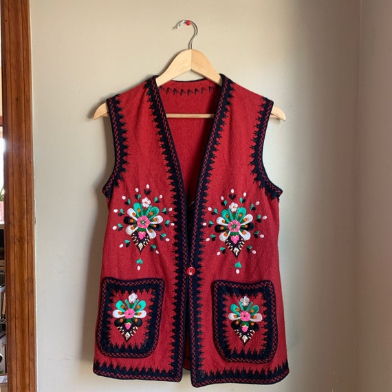 1960's Hand Embroidered Vest