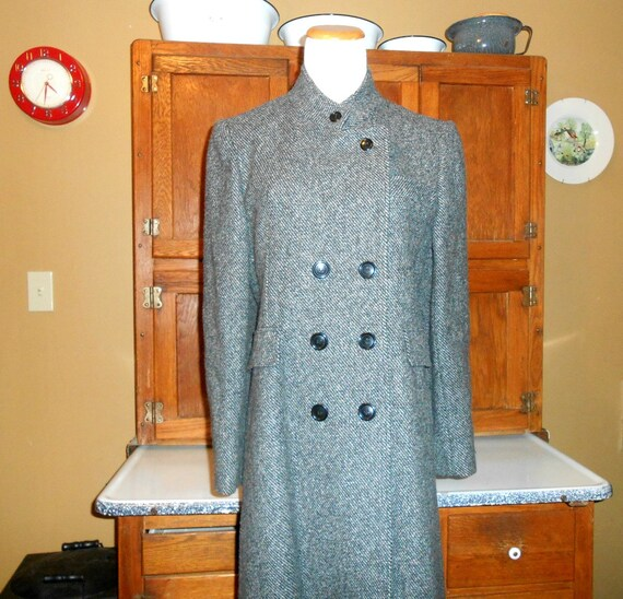 Vintage Maxi Coat Women's Coat Long Wool Coat Size
