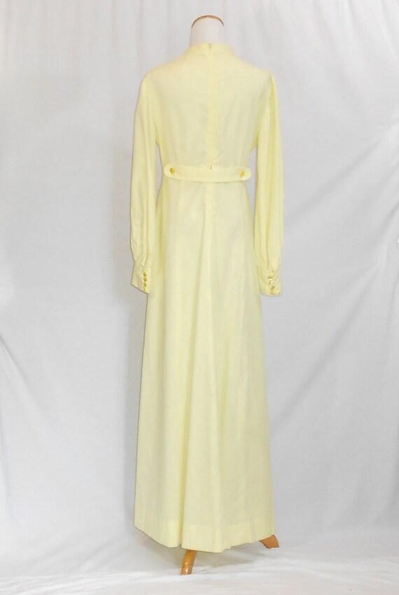 70's Maxi Dress Empire Waist Dress Swiss Dot Dres… - image 3