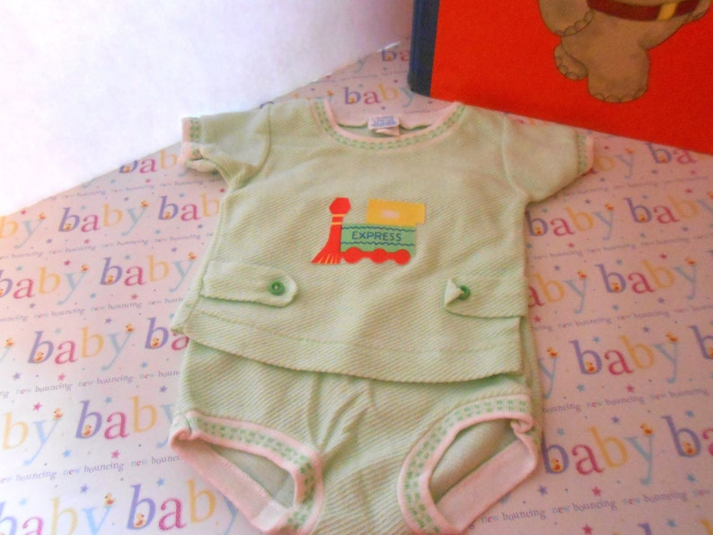 7ba02b44c 70's Vintage Carters Infant Boy's Baby Boy Clothing Set Size 0-3 Mo