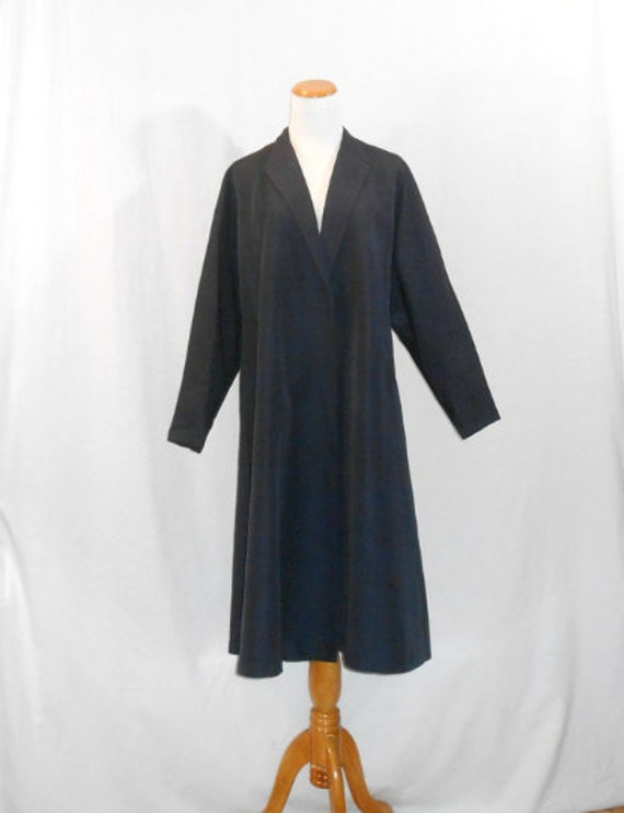 1950's Opera Coat Blue Gaberdine Coat