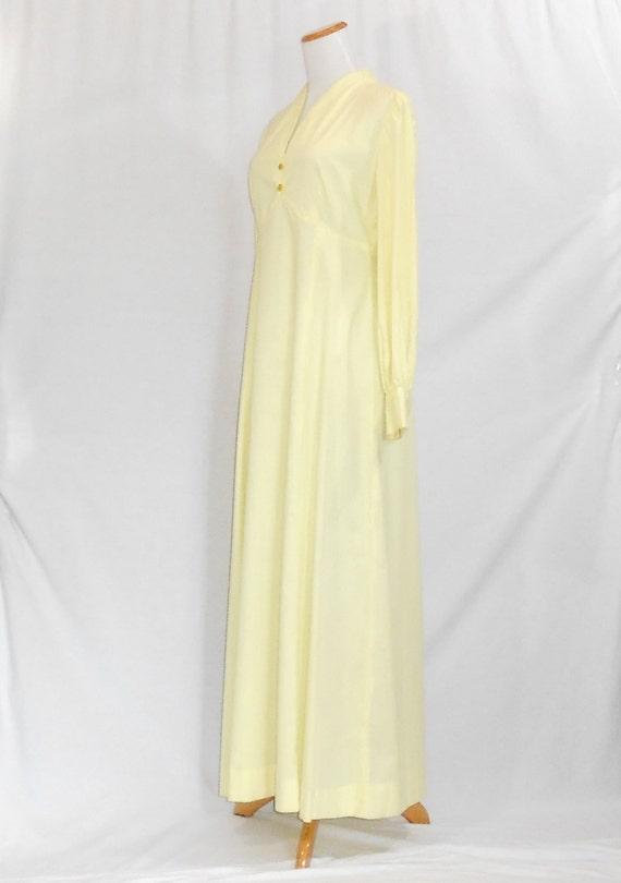 70's Maxi Dress Empire Waist Dress Swiss Dot Dres… - image 4