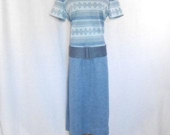 Mod Dress 60's Dress Vintage 1960's Bleaker Street Drop Waist Dress