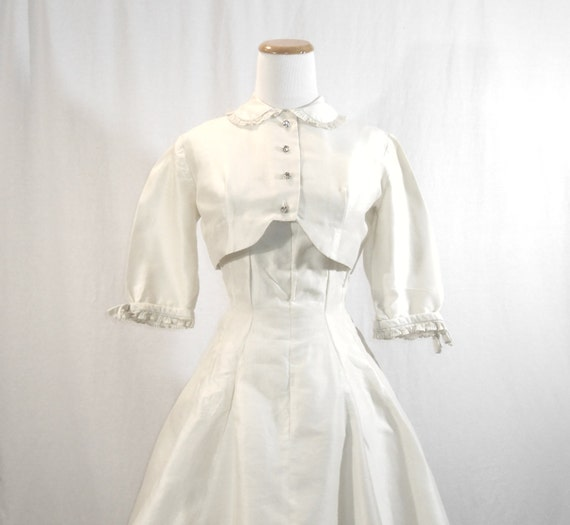 Dress and Jacket Set White Bolero Jacket 50's Dres