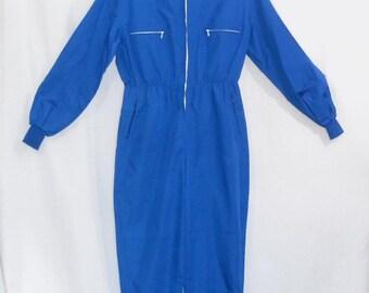 Vintage Overalls 40's 50's Ski Suit Hooded