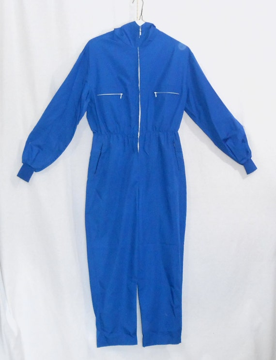 Vintage Overalls 40's 50's Ski Suit Hooded