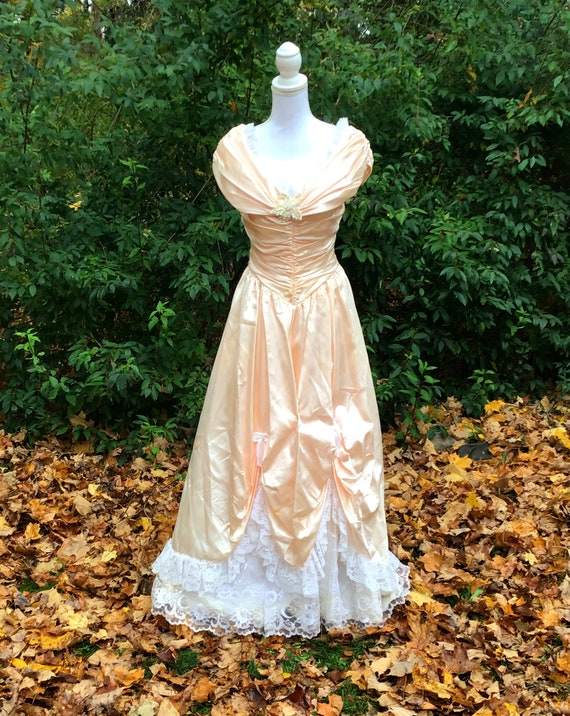 Vintage Gown Pink Pageant Gown Princess Gown