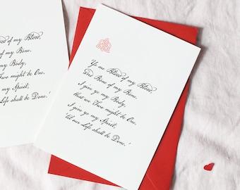 Outlander Inspired Sassenach Celtic Valentine/'s Card