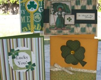 St Patricks Day Card Making Kit - Makes 4 Cards