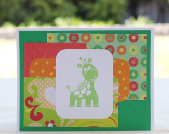 Simple Giraffe Baby or Birthday Card