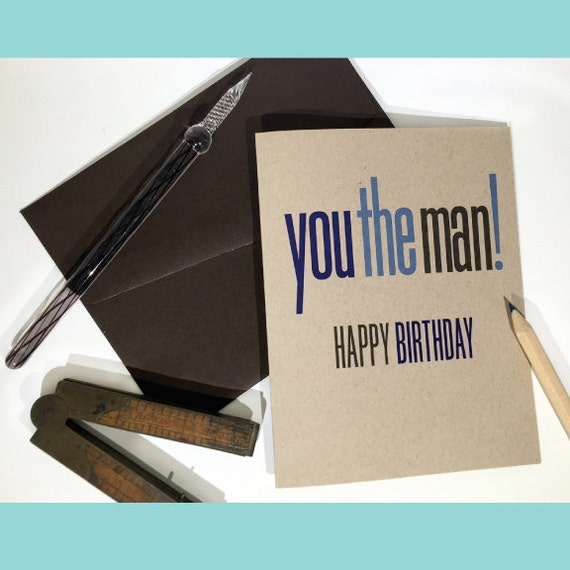 Birthday Card For Guys You The Man Birthday Happy Birthday Etsy