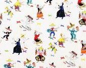 Day of the Dead quot Marionetas quot White- Alexander Henry Skeleton 1 Yard Cotton Fabric