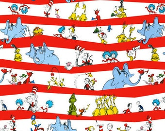 Dr. Seuss The Cat in the Hat Celebration - Robert Kaufman - Cotton Fabric