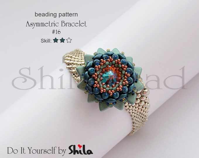 Beading Pattern Tutorial Step by step INSTANT download PDF - Fruit Cake Bracelet No. 16