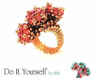 Beading Pattern Tutorial Step by step INSTANT download PDF - Royal Ring No. 06