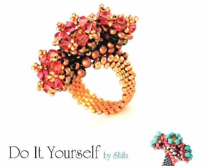 Ring Step by step INSTANT download Pdf beading PATTERN #6