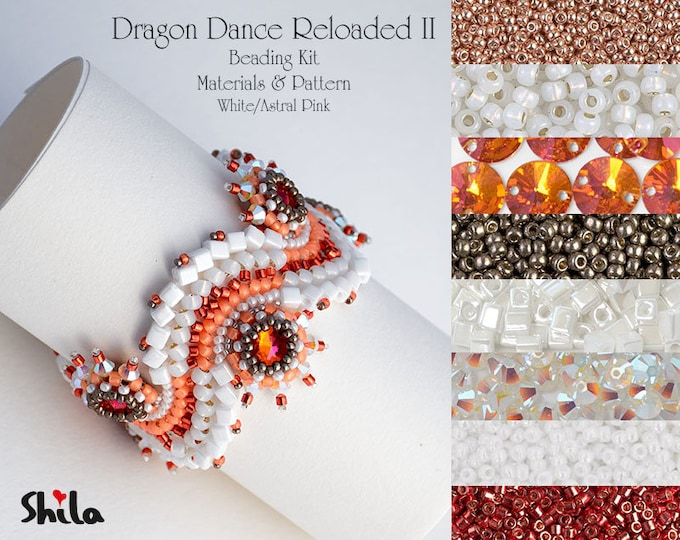 Dragon Dance Reloaded II. Beading Kit No.#27 White/Astral Pink