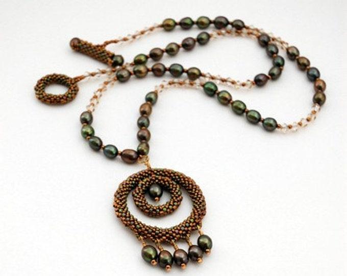 Beaded Jewellery - Olive Berries Necklace