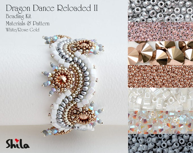 Dragon Dance Reloaded II. Beading Kit No.#27 White/Rose Gold