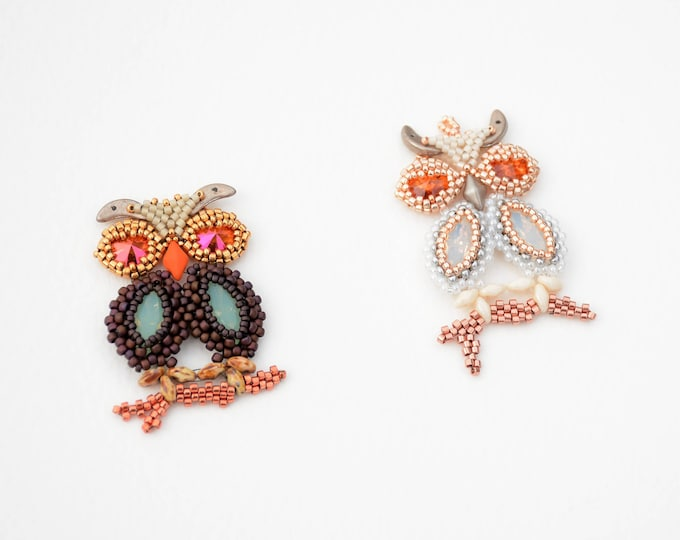Beaded Owl Pendant