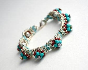 Beaded Jewellery - Hillock Bracelet/Blue