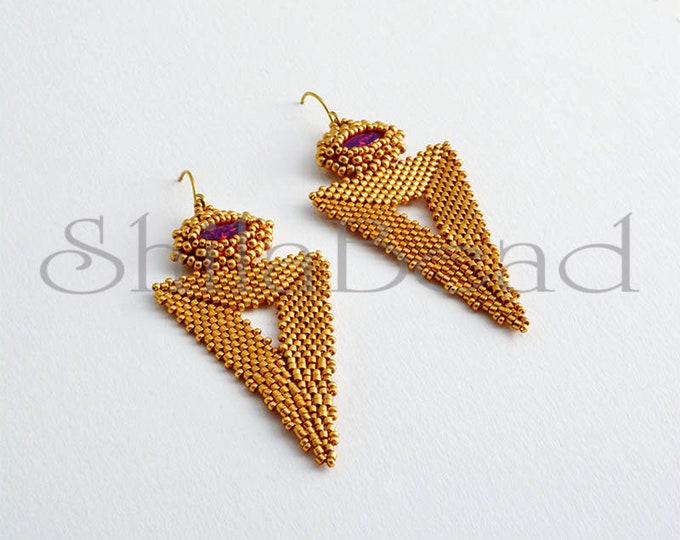 Bermuda Triangle Earrings Astral Pink/Gold