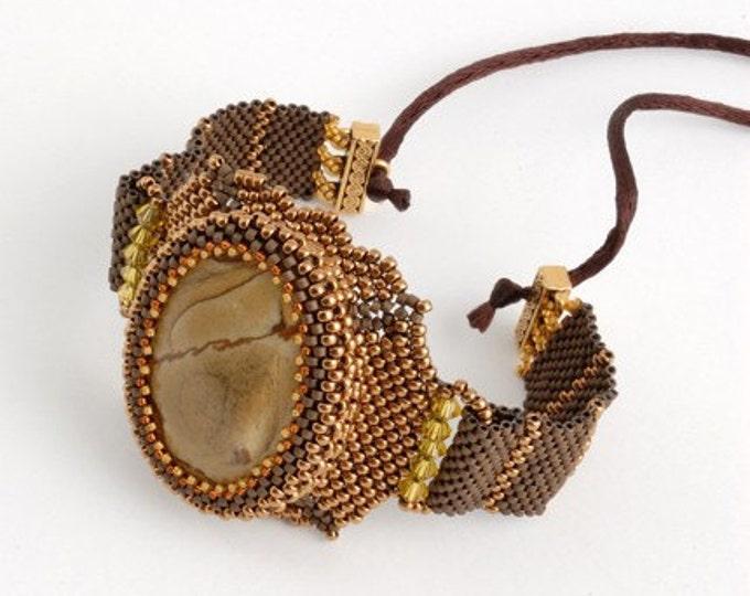 Beaded Jewellery - Thunder Jasper Watch Bracelet