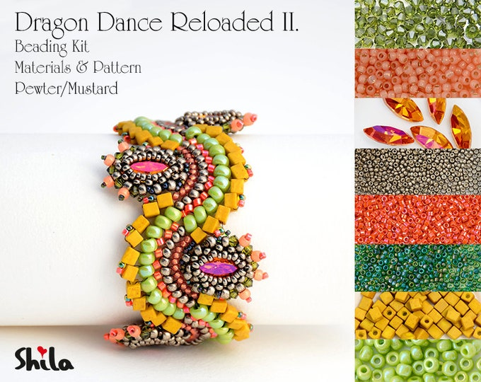 Dragon Dance Reloaded II. Beading Kit No.#26 Pewter/Mustard
