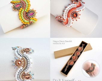 Beading Pattern Tutorial Step by step INSTANT download PDF - Pay LESS for 3 Beading Patterns No. 18 - No. 26 - No. 27