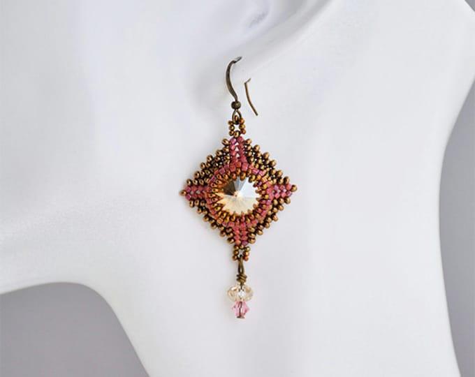Beaded Jewellery - Volcanoes Earrings